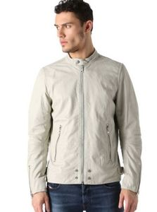 Diesel L-EDG Egg Shells Leather Jacket